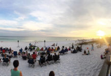 Beach Church Service