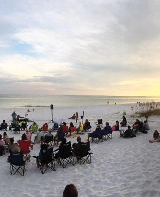 Beach Church Service
