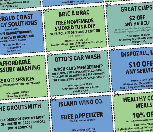 COUPONS Destin LIfe 2020 Oct