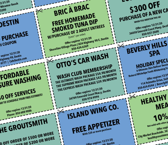 Destin LIfe 2020 Dec COUPONS